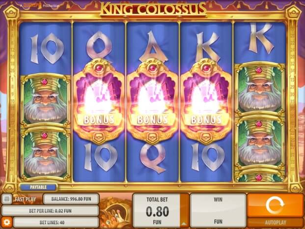 King Colossus- herní automat
