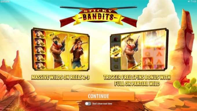 Herní automat Sticky Bandits