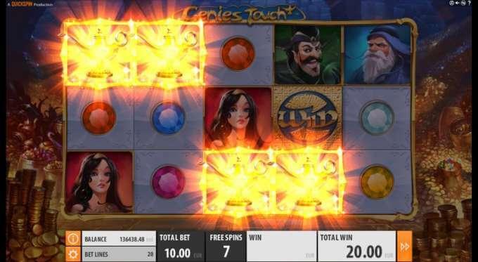 Genies Touch herní automat