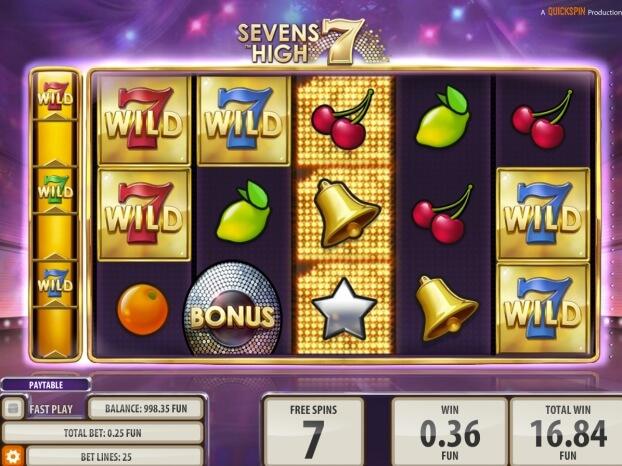 Sevens High - herní automat