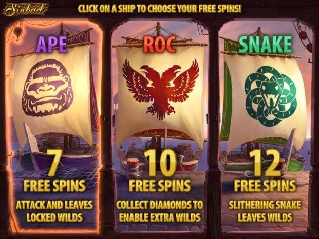 Sinbad herní automat