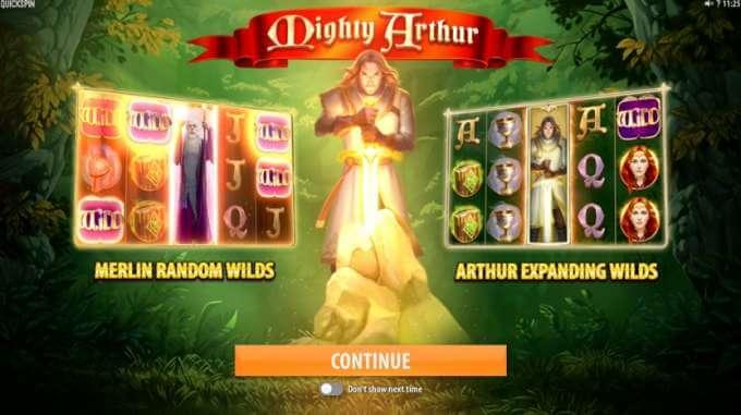 Herní automat Mighty Arthur