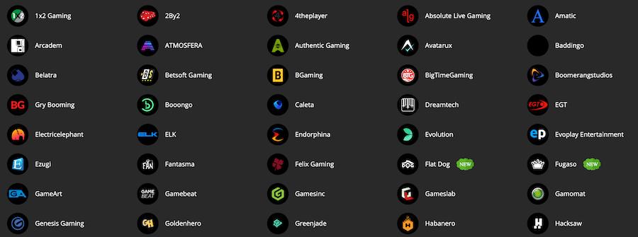 PlayAmo - Poskytovatelé