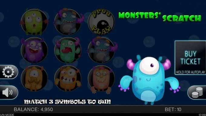 Monsters Scratch automat