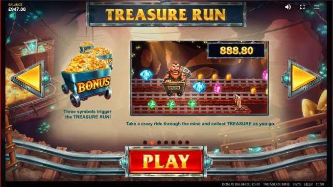 Symboly v herním automat Treasure Run