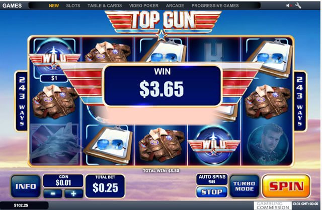 Herní automat Top Gun