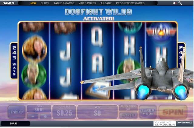 Top Gun zajímavý automat zdarma
