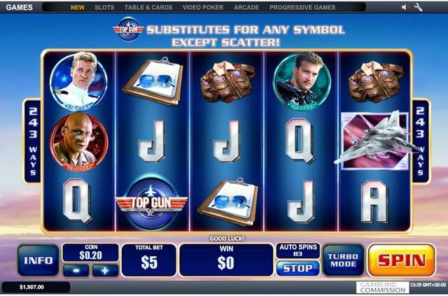 Top Gun automat od Playtech