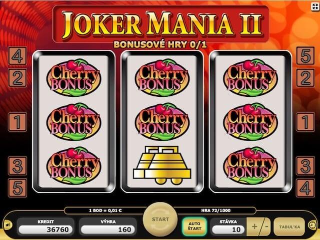 Automaty zdarma Joker Mania 2 od kajotu