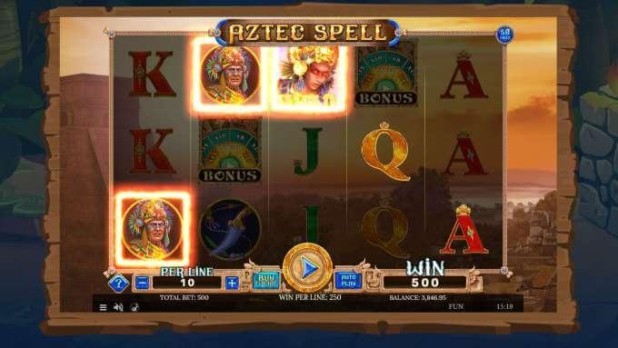 Aztec spell - velká výhra