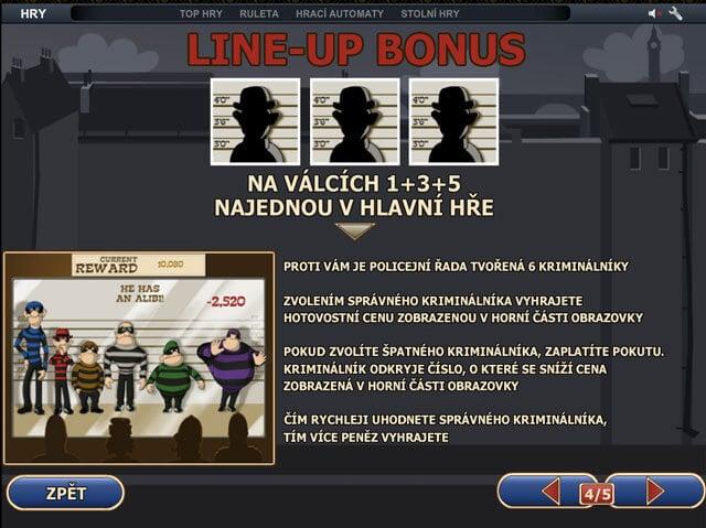 line-up bonus Cops and Bandits