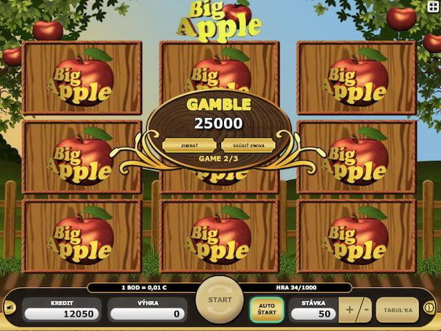 Výherní automat Big Apple od Kajot automatů