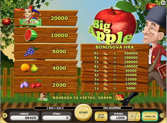 Automat Kajot nabízí Big Apple