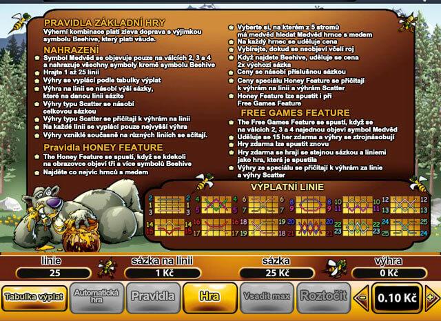 Bonus Bears všechny informace na obrázku