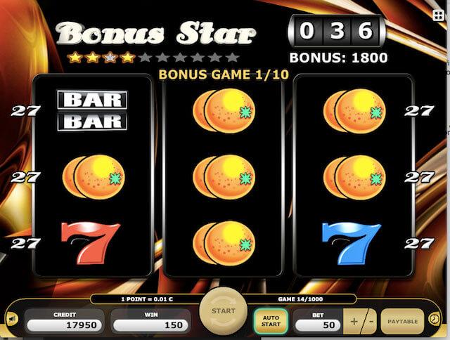 Bonus Star automaty zdarma v Kajot casinu bez nutnosti vkladu