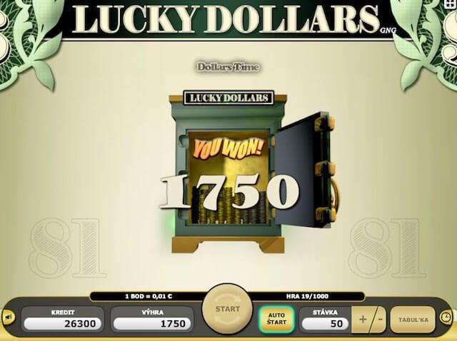 Lucky Dollars neboli automat zdarma