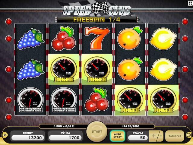 Bonus Speed Club v Kajot casino