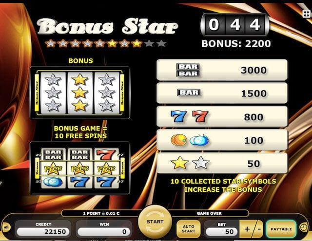 Automaty zdarma Bonus Star