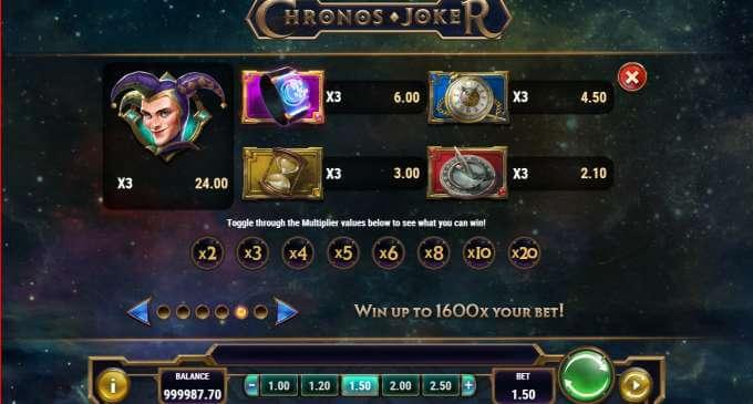 Nový herní automat Chronos joker a jeho speciální casino bonusy!