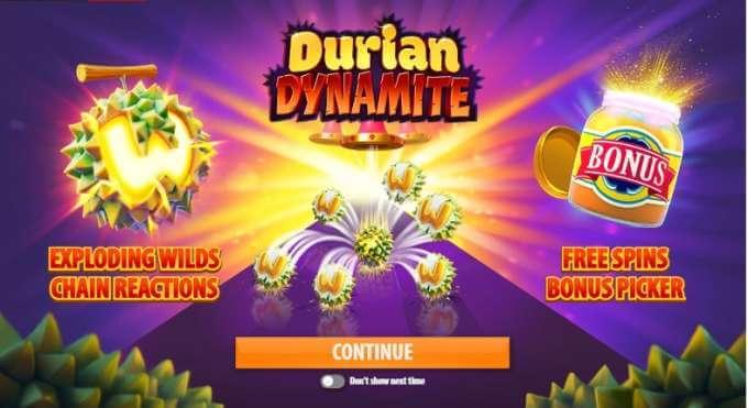 Casino bonusy ve hře Durian Dynamite