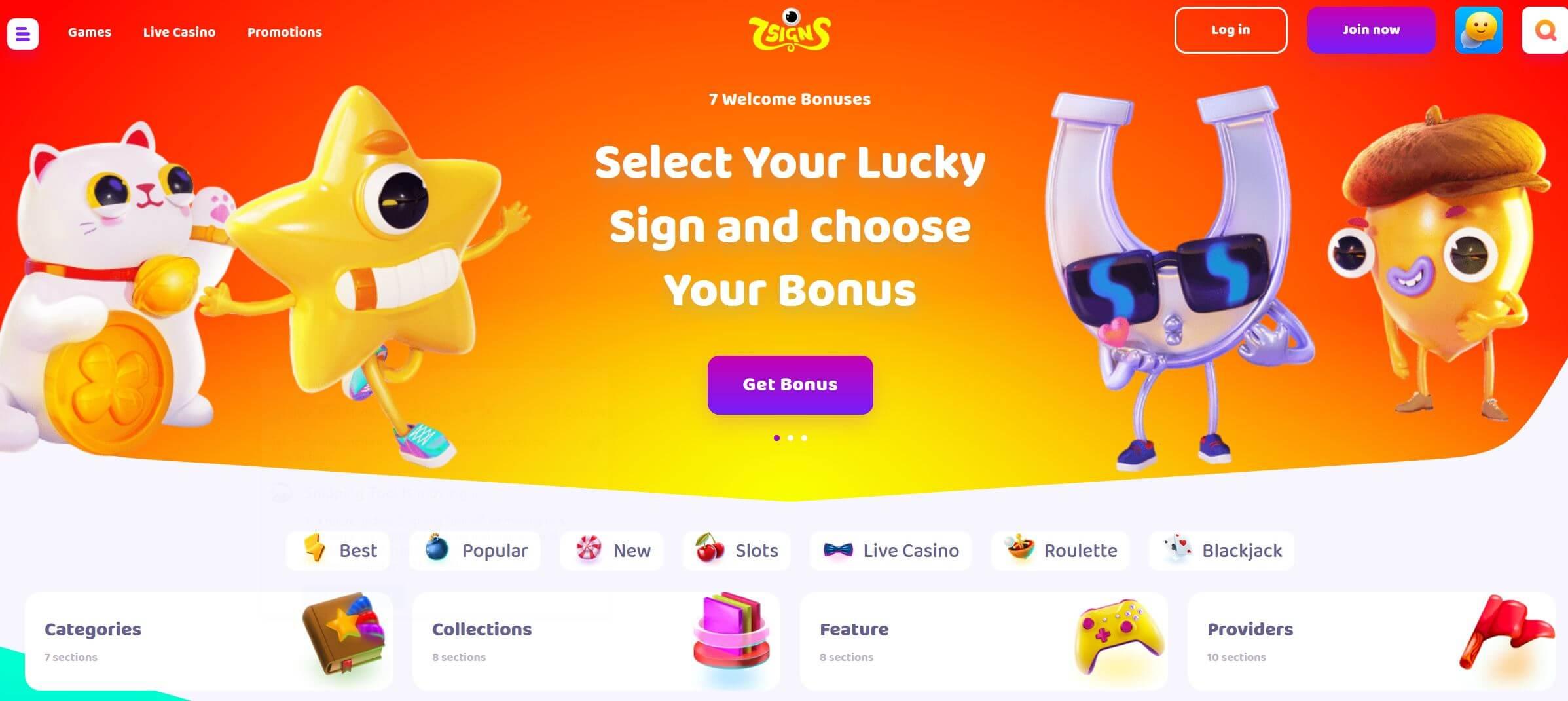 7signs bonus v online casinu
