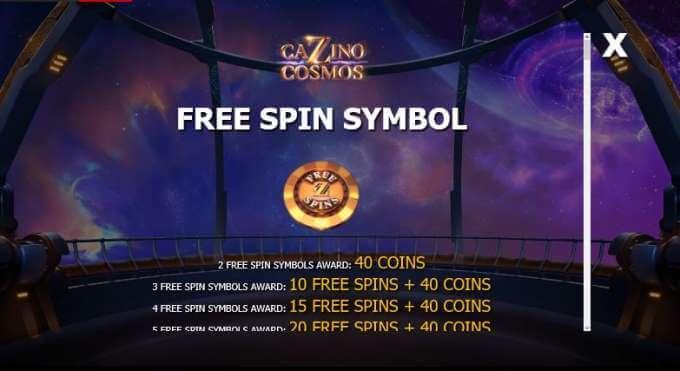 Cazino Cosmos automat bez nutnosti vkladu