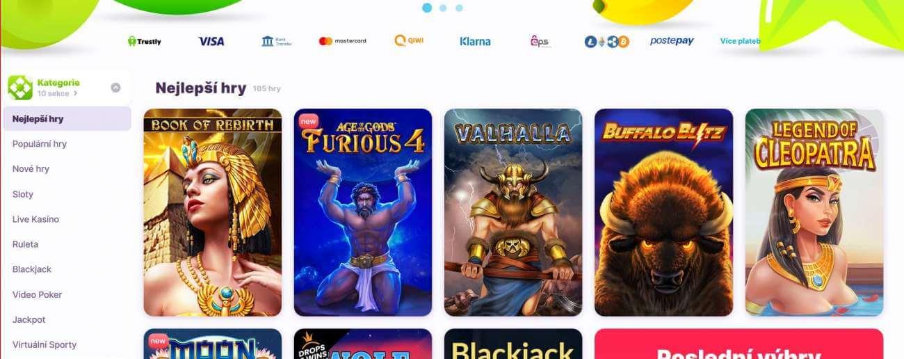 Nomini casino nabízí živé hry, video automaty, Jackpotové hry a další