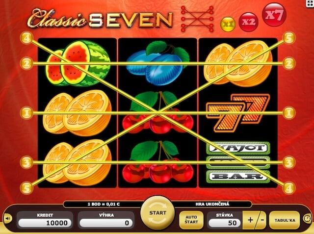 Kajot automaty Classic Seven zdarma