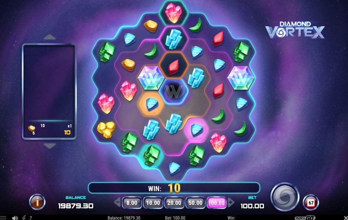 Diamond Vortex herní automat a jeho výhry!