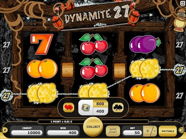 Gambling možnost ve hře Dynamite 27