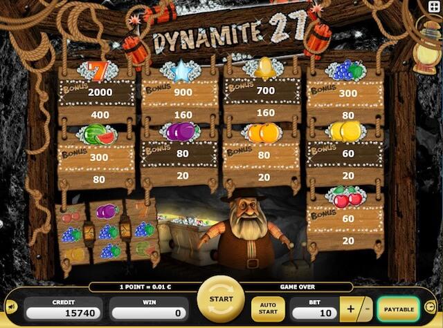 Dynamite 27 herní automat zdarma