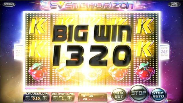 Big Win v Event Horizon automatu