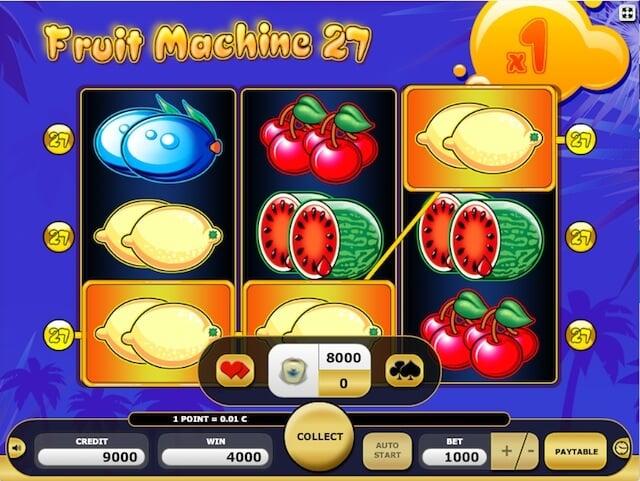 herní automaty zdarma Fruit Machine 27