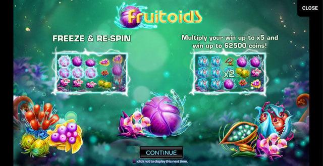 Fruitoids automat online