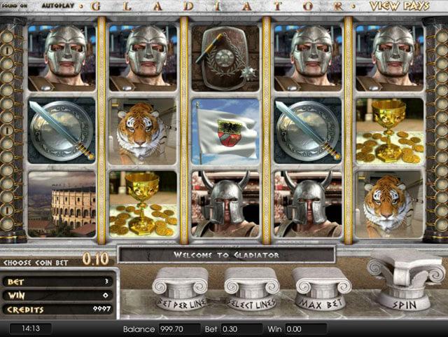 Herní automat Glidiator od Playtech