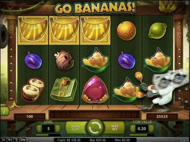 Automat Go Bananas od NetEnt