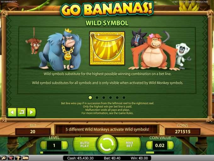 Go Bananas automat zdarma
