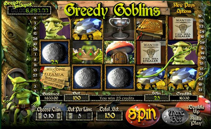 Greedy Goblins herní automat zdarma