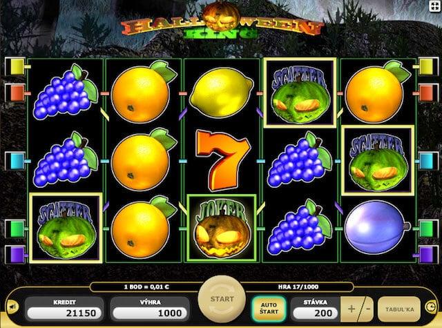 Hrací automaty zdarma Halloween King