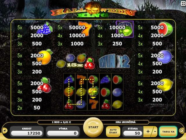 Zkus si výherní automat Halloween King v Kajot casino