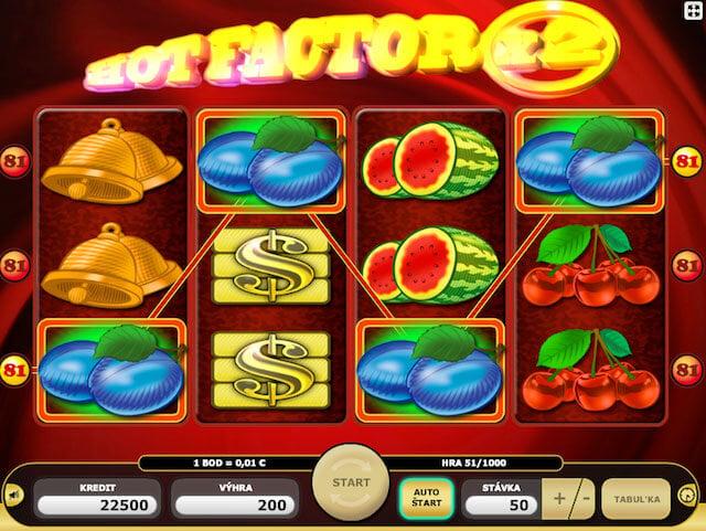 Hrací automat HotFactor se zajímavými bonusy