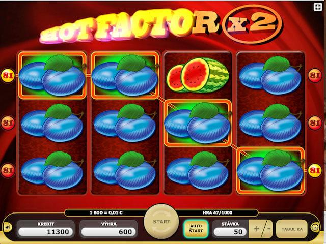Hot Factor výherní automat zdarma