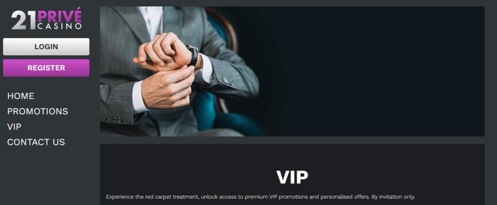 VIP program casina