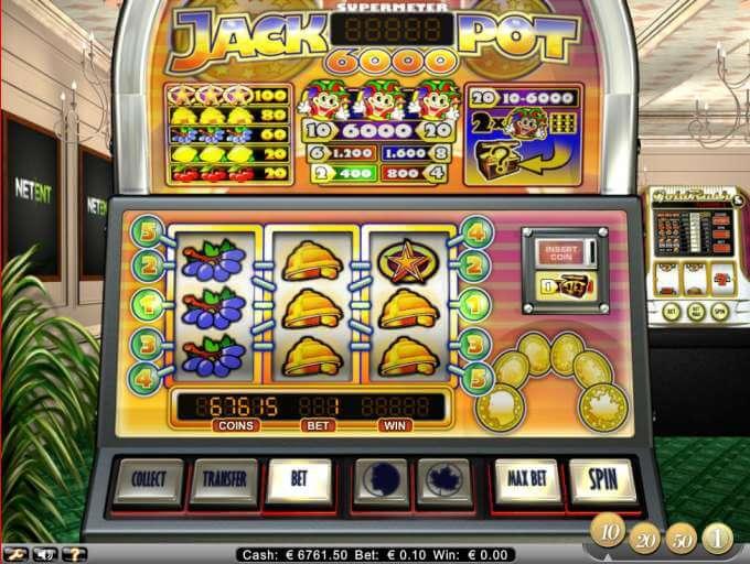 Herní automat Jackpot 6000