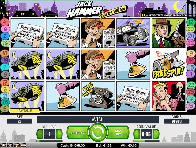 casino hra Jack hammer, vyzkoušej a uvidíš