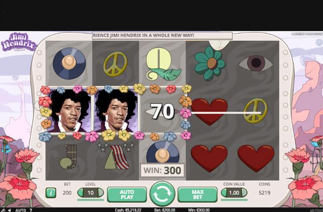 Zahraj si hrací automat Jimi Hendrix