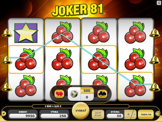 Joker 81 herní automat zdarma v Kajot casino