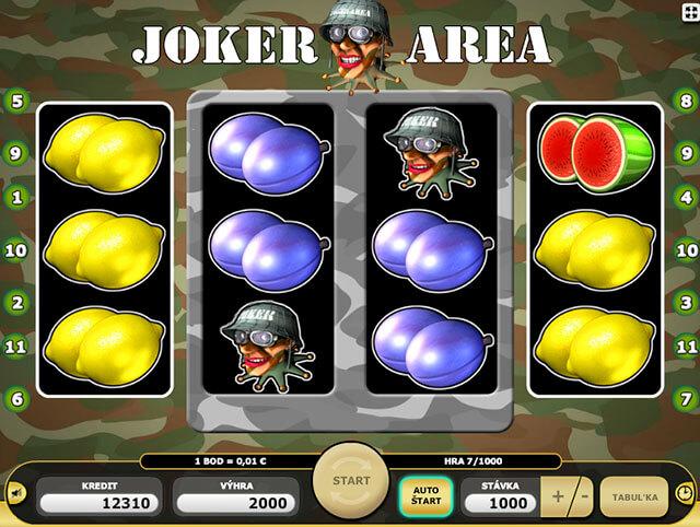 Výherní symbol Joker nahrazující všechny výherní symboly