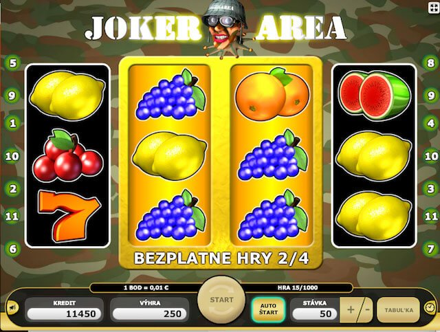 Super casino bonus v Joker Area