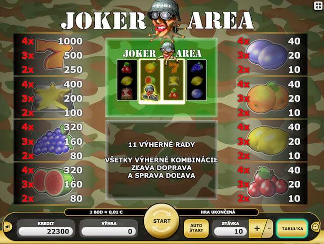 Výherní automat Joker Area